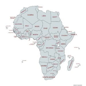 Invest Climate Change Africa Map